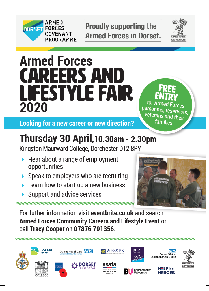 Careers Event for retiring members of the Armed Forces – 30 April 2020 Kingston Maurward